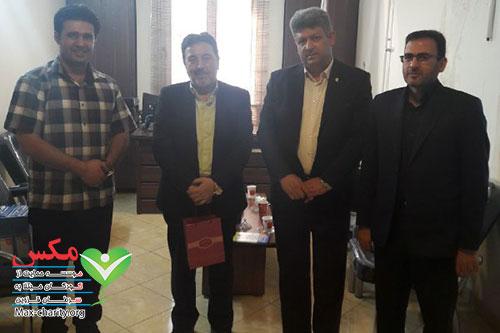 بازدید مدیران بانک ملی قزوین از موسسه مکس