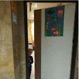 تزیین درب اتاق های بخش خون بیمارستان قدس توسط خانم نصیری از اعضا مکس